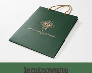 torba laminowana zielona ikona