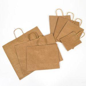 torby papierowe z uchwytem skręcanym eco