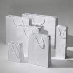 Torba papierowa premium ekologiczna biala