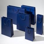 Torba papierowa premium niebieska