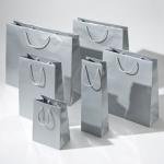 Torba papierowa premium srebrne